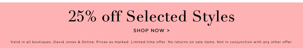 25%off selected syles